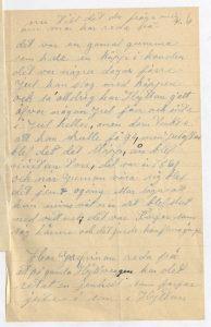En sida av ett brev i Hallwylska arkivet.