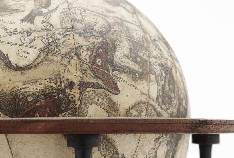 Bild av himmelsglob från 1600-talet.