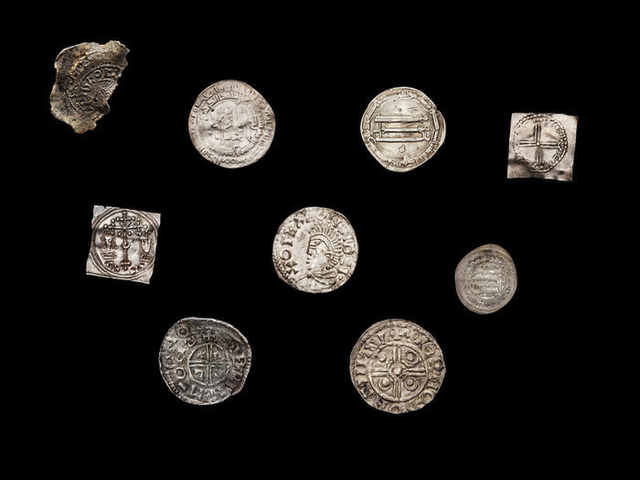 Coins from the Viking age.